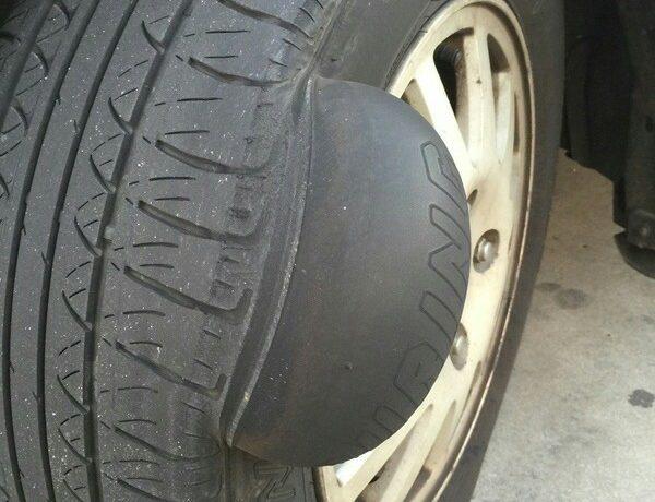 Грыжа на шине